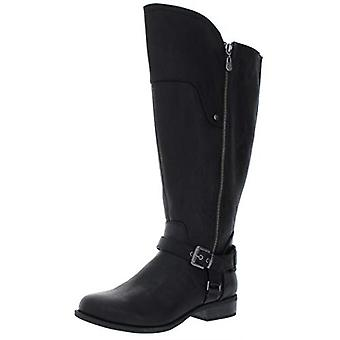 G By Guess Womens Harson5 Faux Leather Riding Boots Black 8.5 Wide (C,D,W)