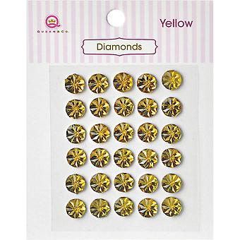 Queen & Co Diamond Self-Adhesive 30/Pkg-Yellow DM-623