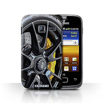 STUFF4 Case/Cover for Samsung Galaxy Y Duos/S6102/Black/Yellow/Alloy Wheels