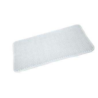 Weiße PVC-Bad Komfort Matte 65 X 37cm
