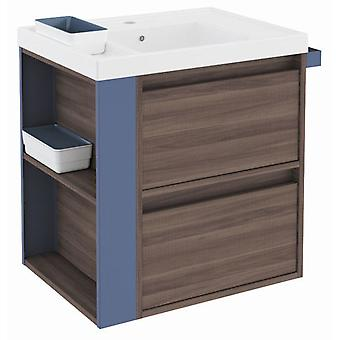 Bath+ Sink cabinet 2 Drawers With Resin Fresno-Blue 60CM