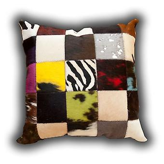 Rugs - Leather Patchwork Multi Coloured Cushion