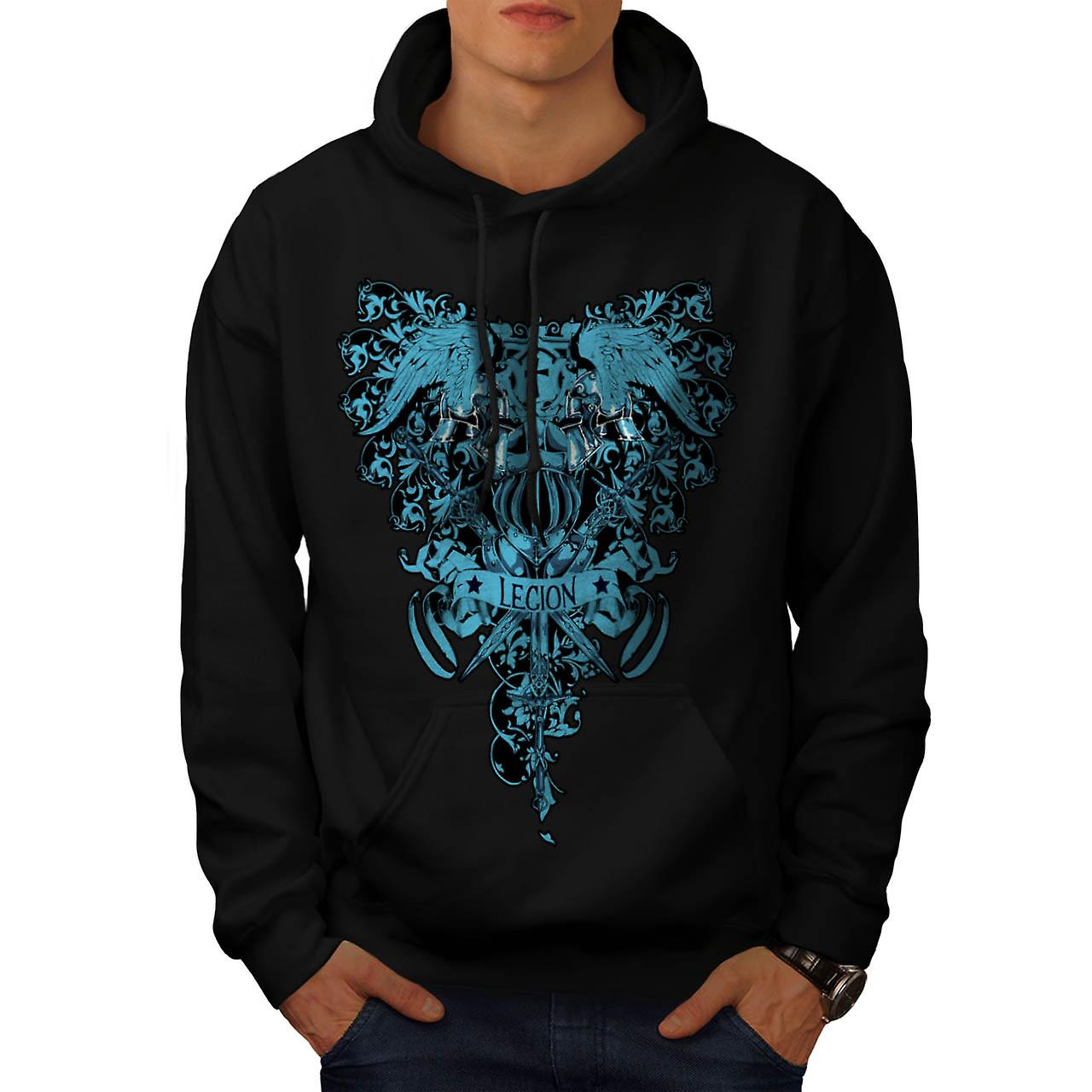 Kingdom Legion Cross Dead Symbol Men Black Hoodie | Wellcoda