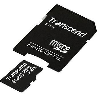microSDXC card 64 GB Transcend Premium Class 10, UHS-I incl. SD adapter