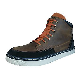 Geox U Mattias B Abx B Mens Leather Waterproof Boots / Shoes - Cognac