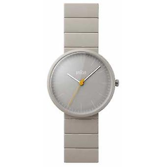 Braun Mens Grey Ceramic Bracelet Grey Dial BN0171GYGYG Watch