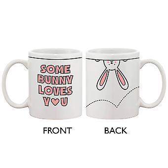 Lustige und niedliche Keramik Kaffeebecher - einige Bunny liebt Sie 11oz Kaffee Tasse