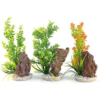 Sydeco Coloured Plants With Rocks 32cm (Pack of 8)