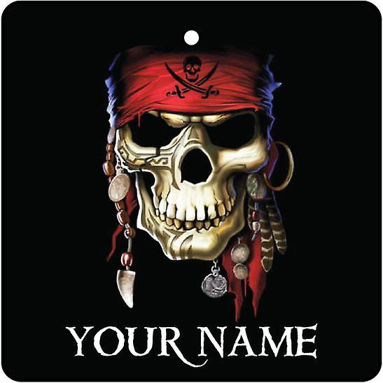 Personalised Pirate Skull Car Air Freshener