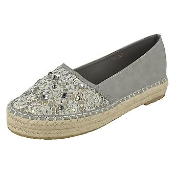 Ladies Savannah Slip On Espadrille Casual Pumps F80067