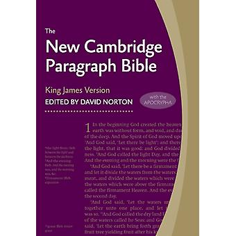 New Cambridge Paragraph Bible with Apocrypha KJ595:TA Black Calfskin: Personal size (Leather Bound)
