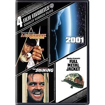 4 film favoritter: Stanley Kubrick film [DVD] USA import
