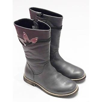 Froddo Girls Long Grey Leather Boots