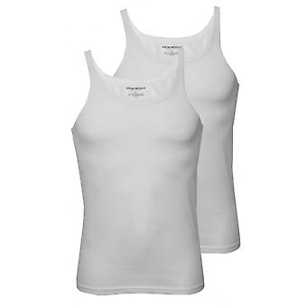 Emporio Armani 2-Pack Pure Cotton Tank Top Vests, White