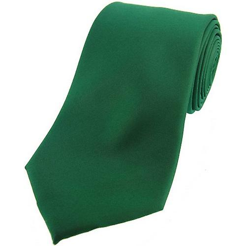 David Van Hagen Satin Silk Tie - Emerald