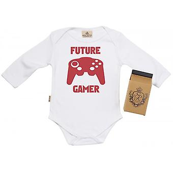 Spoilt Rotten Future Gamer Babygrow 100% Organic Cotton