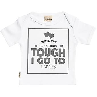 Spoilt Rotten When Going Gets Tough I Go To Uncles Short Sleeve Baby T-Shirt