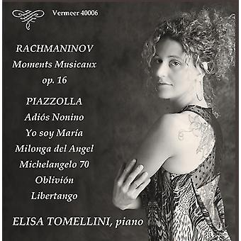 Piazzolla / Tomellini - klaver værker [CD] USA import