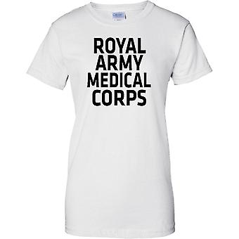Licensed MOD -  British Army Royal Army Medical Corps - Text - Ladies T Shirt