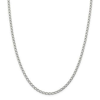 Plata esterlina sólida pulida longitud de la pulsera - pinza de langosta - langosta garra cierre 3,2 mm Abrir enlace cadena: 7 a 8