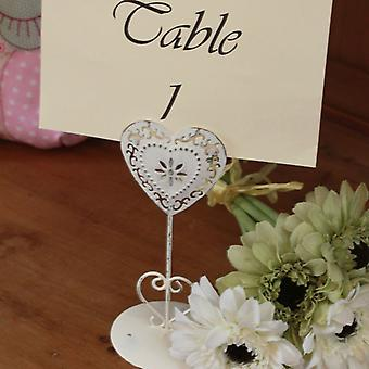 Heart Table Number Holder Small Single