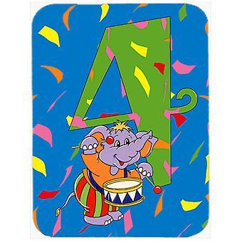 Feliz 4 º cumpleaños de la edad 4 Mouse Pad, almohadilla caliente o latas de refrescos