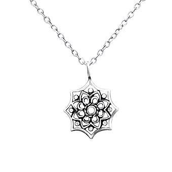 Flower - 925 Sterling Silver Plain Necklaces