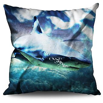 Shark Beast Wild Animal Linen Cushion Shark Beast Wild Animal | Wellcoda