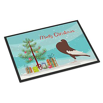 Inglese Pouter Pigeon Natale Indoor o Outdoor Mat 24 x 36