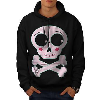 Cute Metal Rock Skull Men BlackHoodie   Wellcoda