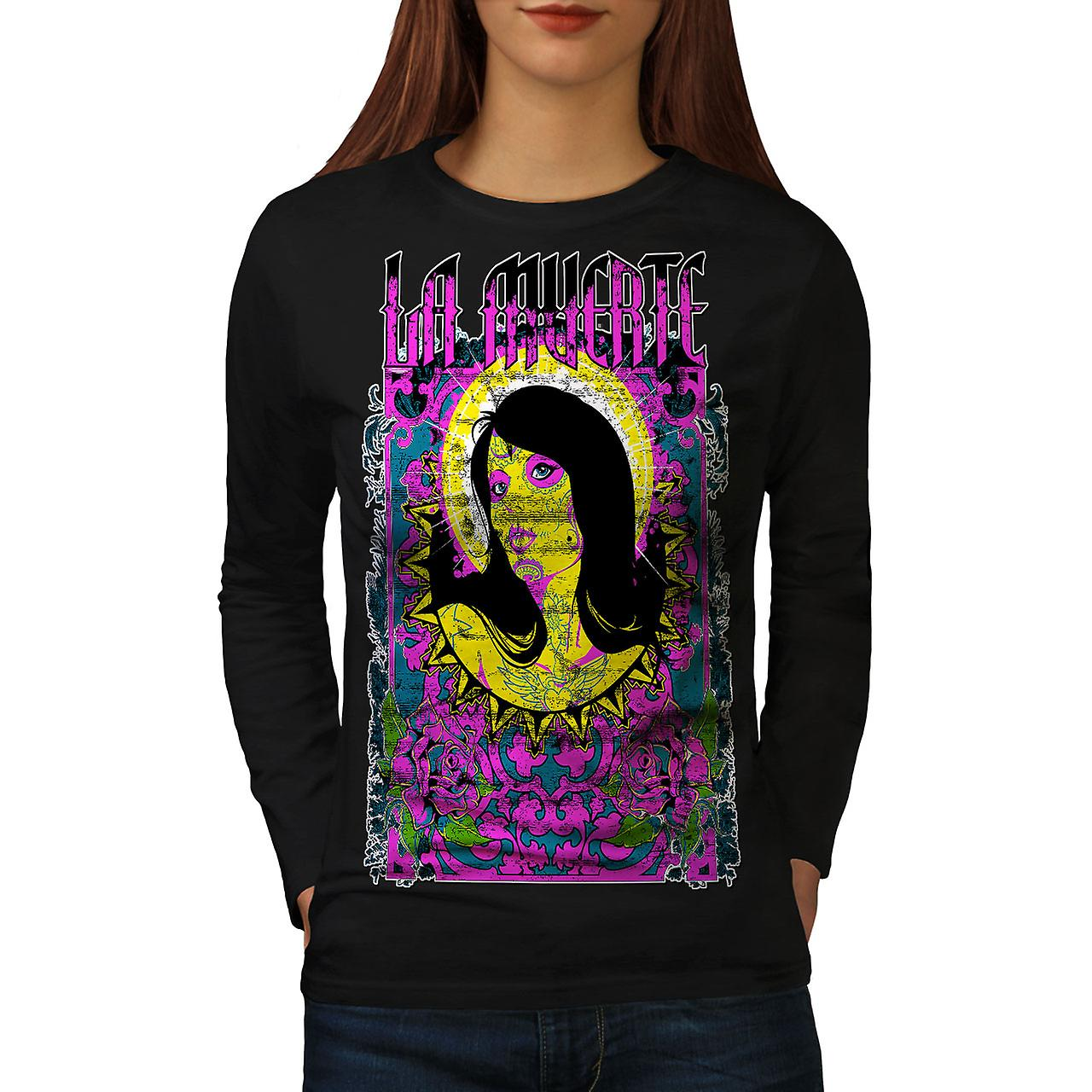 La Muerte hellige Zombie kvinner BlackLong ermet t-skjorte | Wellcoda