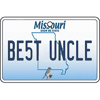 Missouri - Best Uncle License Plate Car Air Freshener
