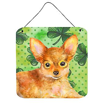 Toy Terrier St Patrick's Wall or Door Hanging Prints