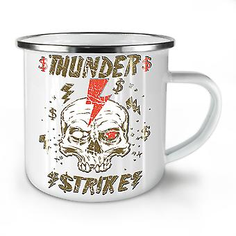 Thunder Strike Dead NEW WhiteTea Coffee Enamel Mug10 oz | Wellcoda