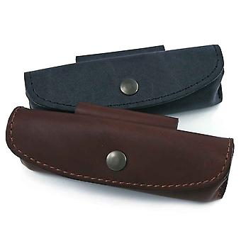 Leather holder for knife ''Le Provençal - Color - Brown Direct from France