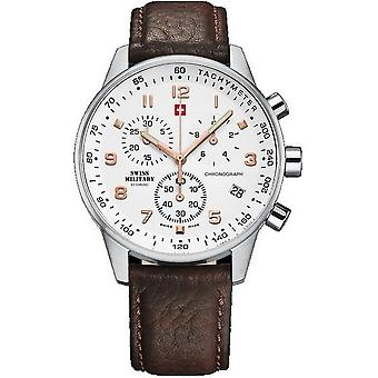 Swiss military mens watch chronograph 20042ST-2LBR-Rose-Dial / SM34012. 11