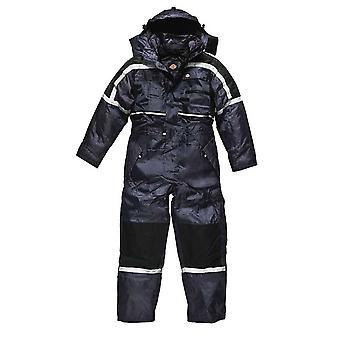 Dickies Mens arbetskläder vattentät vadderad overall marinblå WP15000N