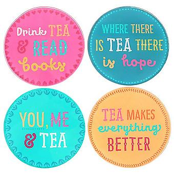 Something Different Fiesta Fun Tea Coasters (Set Of 4)