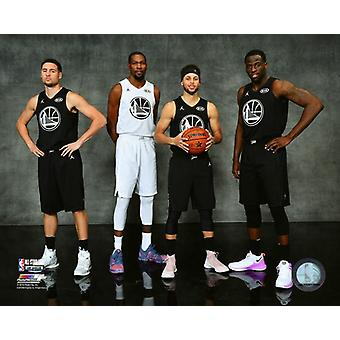 Klay Thompson Stephen Curry Kevin Durant Stephen Curry and Draymond Green Golden State Warriors 2018 NBA All-Star Game Photo Print