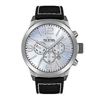 トレッド幅鋼メンズ腕時計クロノ マルク Coblen 版 TWMC34 手首時計革バンド