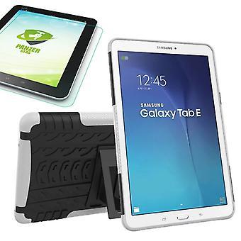 Blanco de bolso al aire libre híbrido para Samsung Galaxy tab E 9.6 SM T560 + 0,4 vidrio templado
