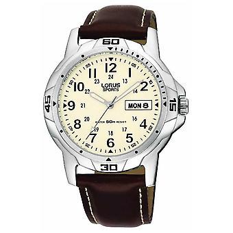 Lorus Brown Leather Strap RXN49BX9 Watch