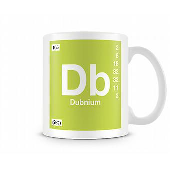 Element Symbol 105 Db - Dubinium Printed Mug