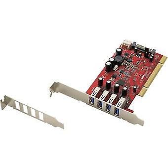 Renkforce 4 ports USB 3.0 controller card USB type A PCI
