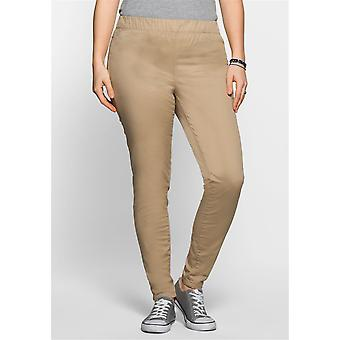 sheego Treggings Twill quality long size large size Brown
