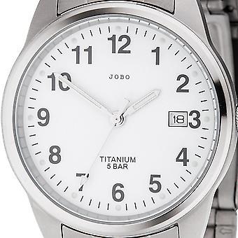 JOBO Herren Armbanduhr Quarz Analog Titan Datum Herrenuhr