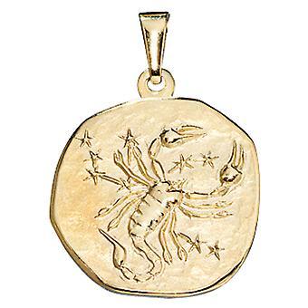Anhänger Sternzeichen SKORPION gold 333 gelbgold Astro