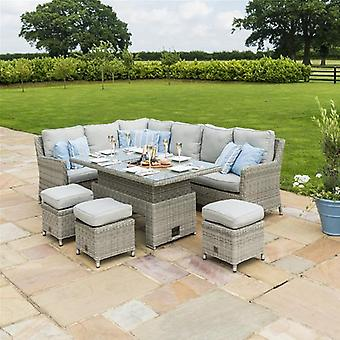 Maze Rattan Oxford Right Hand Corner Rising Dining Set with Ice Bucket
