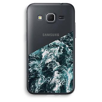 Samsung Galaxy Core Prime Transparent Case (Soft) - Ocean Wave