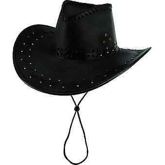 Cowboyhatt mocka look svart tillbehör hatt vilda västern Carnival